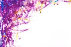 crayons голубая фиолетовая рамка Стоковое Изображение
