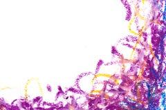 crayons голубая фиолетовая рамка Стоковые Фотографии RF