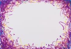 crayons голубая фиолетовая рамка Стоковое Фото