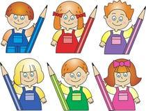 crayons детей Стоковые Фотографии RF