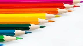 crayons диагональ стоковое фото rf