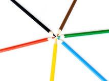 crayons круглые Стоковое Изображение