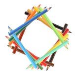 Crayons на белизне Стоковые Изображения RF
