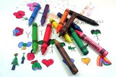crayons некоторое Стоковое Изображение
