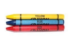 crayons основных цветов Стоковые Изображения