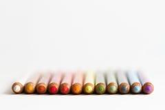 crayons пастельный рядок Стоковые Фотографии RF