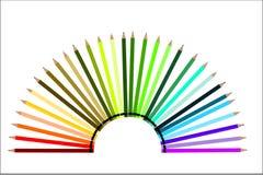 Crayons полуокружности - игра цвета иллюстрация вектора