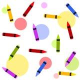 crayons предпосылки цветастые tileable иллюстрация вектора