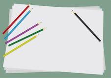 crayons предпосылки Иллюстрация штока