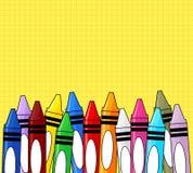 Crayons предпосылка Стоковая Фотография