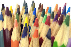 Crayons предпосылка стоковые фотографии rf