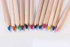 Crayons приходя совместно Стоковые Фото