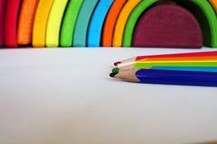 Crayons радуга Стоковые Фото