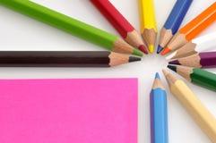 crayons цвета цветастые Стоковое Фото