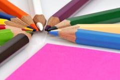 crayons цвета цветастые Стоковые Изображения RF