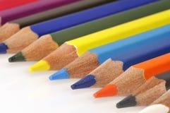 crayons цвета цветастые Стоковые Фотографии RF