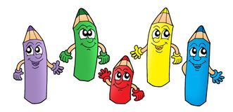 Crayons 1. Color illustration of five color crayons vector illustration