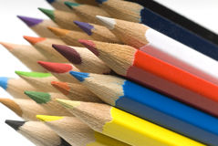 Crayons. Handful of crayons for kids in school Royalty Free Stock Images