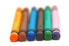 Crayons. Color crayons on white background Stock Images