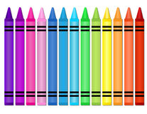 Crayons royalty free illustration