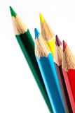 Crayons. Colored pencils on white background Royalty Free Stock Photos