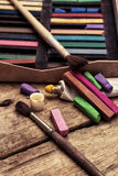 crayons Arkivfoto