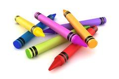 crayons stock illustrationer