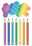 Crayons. Isolated on white background Royalty Free Stock Image