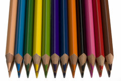 Crayons. Beautiful colored crayons on a mirror Royalty Free Stock Images