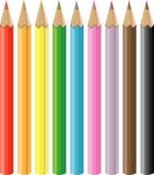 Crayons. Coloring Crayons 9 colors illustration Royalty Free Illustration