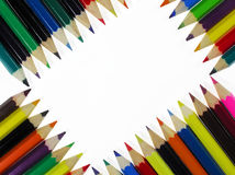 Crayons. Arranged in canon crayons Royalty Free Stock Photo