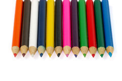 Crayons. On a white background color of crayons Stock Photography