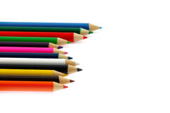 Crayons. On a white background color of crayons Stock Images