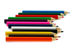 Crayons. On a white background color of crayons Royalty Free Stock Photo