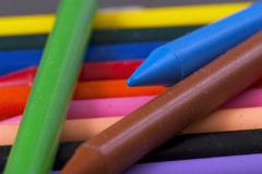 Crayons. Of different colors Stock Photo