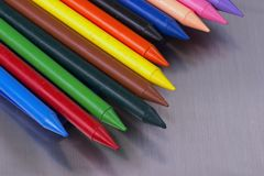 Crayons. Of different colors Stock Image