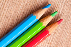 Crayons as rgb color Royalty Free Stock Photography