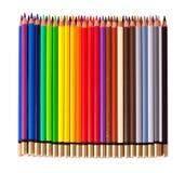 Crayons au-dessus de blanc Photographie stock