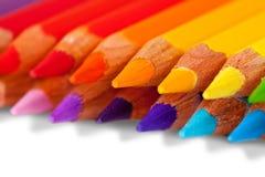 Crayons au-dessus du petit morceau Images stock
