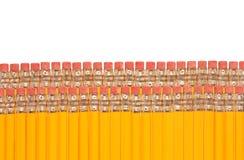 Crayons avec des gommes à effacer Photo stock