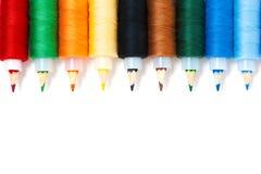 Crayons avec l'amorçage Photo libre de droits