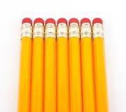 Crayons avec la gomme à effacer Photo libre de droits
