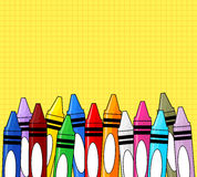 Crayons background Stock Photography