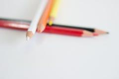 Crayons blancs de couleur Image libre de droits