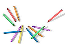 Crayons with Blank Background Stock Image