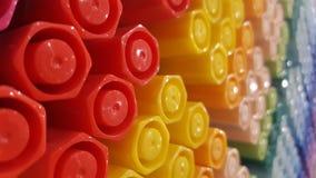 Rainbow pencil royalty free stock photos