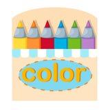 Crayons box Royalty Free Stock Images