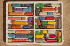 Crayons. Box set of color crayons Stock Photography