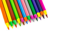 Crayons. A bunch of crayons for the use of children and adults royalty free stock photography