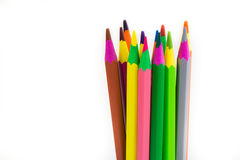 Crayons. A bunch of crayons for the use of children and adults stock photography